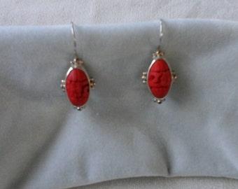 Sajen designer  cinnabar , 925 earrings