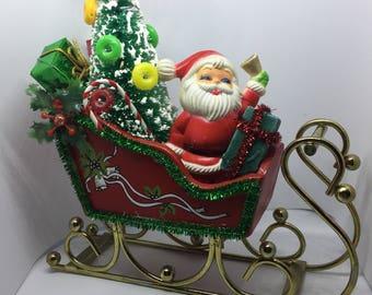 Christmas Santa and Sled/Sleigh
