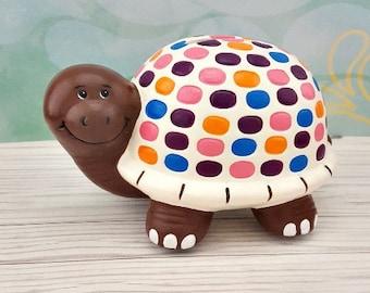 Turtle Piggy Bank Etsy