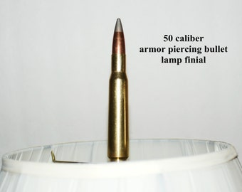 Bullet Lamp Shade Finials Handcrafted50 cal.,30.06 and more
