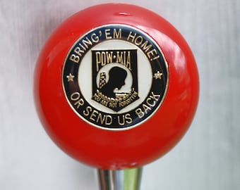 custom made POW/MIA beer keg tap / shifter knob