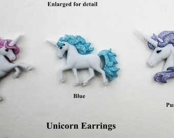 Fun Unicorn Stud earrings...3 different pair