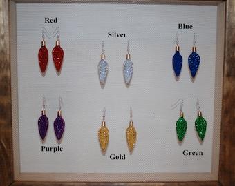 Glitter Arrowhead Style Earrings in 6 different colors