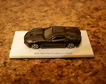 Custom Paperweight/shelf display 2014 Corvette Stingray 1/43 scale model