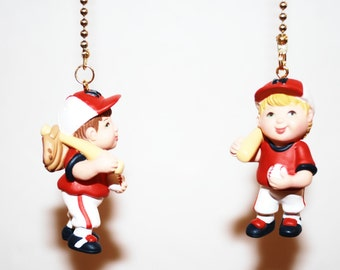 Lil Slugger baseball player ceiling fan or light pull chain or key chain