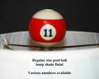 Unique Pool Ball Lamp Shade Finial regular size