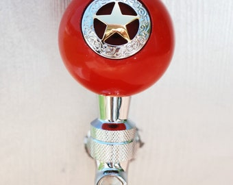 Silver and Gold Lone Star beer keg tap/shifter knob/reloading press knob