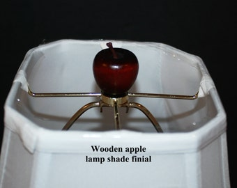 Handcrafted Wooden Apple Lamp Shade Finials... 4 colors available