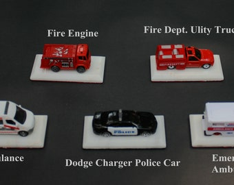 Emergency Vehicle paper weights / desk or shelf display
