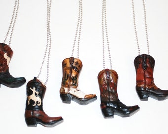 Western Boot Necklaces in 5 different patterns