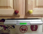 Handcrafted Wooden Apple Cabinet knobs drawer pulls, in Red or Green