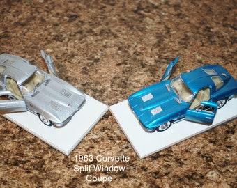 Custom Paperweight/shelf display 1963 split window coupe  Corvette Stingray 1/43 scale model