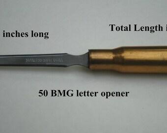50 BMG Bullet Letter Opener