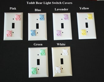 Teddy Bear Light Switch Covers in 6 different colors