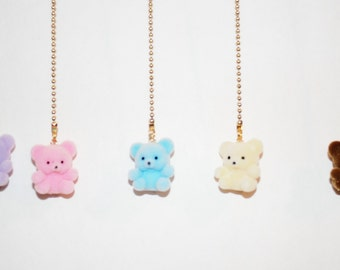 Fuzzy Teddy Bear ceiling fan/light pull chains