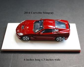 Custom Paperweight/shelf display 2014 Corvette Stingray 1/43 scale model