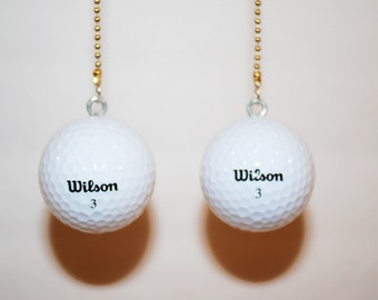 Golf Ball Ceiling Fan Chain Pulls , Wilson,Pinnacle, Titleist