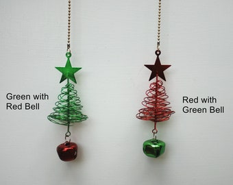 Christmas Tree ceiling fan chain pull