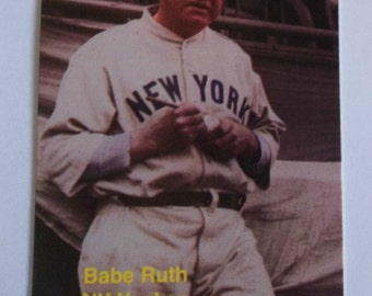 Vintage Babe Ruth trading card in acrylic frame with FREE stand