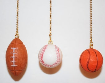 Football,Baseball.Basketball,Golf Ball Key Chain or Ceiling Fan/Light Pull  Chain           n
