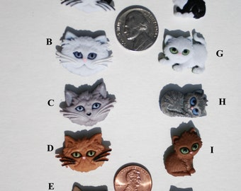 Fun Kitty/Cat Stud Earrings