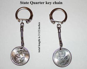 New State Quarter Key Chains