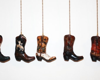 Western Boot Ceiling Fan/Light pull chain