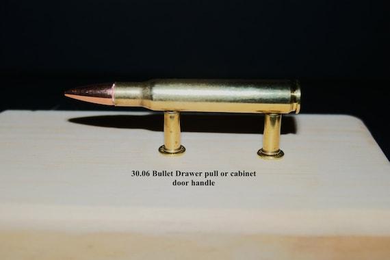 Handcrafted Real Brass Bullet Drawer pulls//cabinet door handles  223-308-30.06
