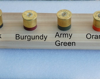 Handcrafted Real Shotgun Shell drawer knobs/door pulls