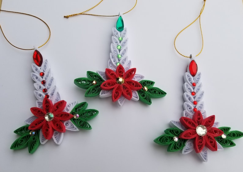 Paper Quilling Christmas Ornaments