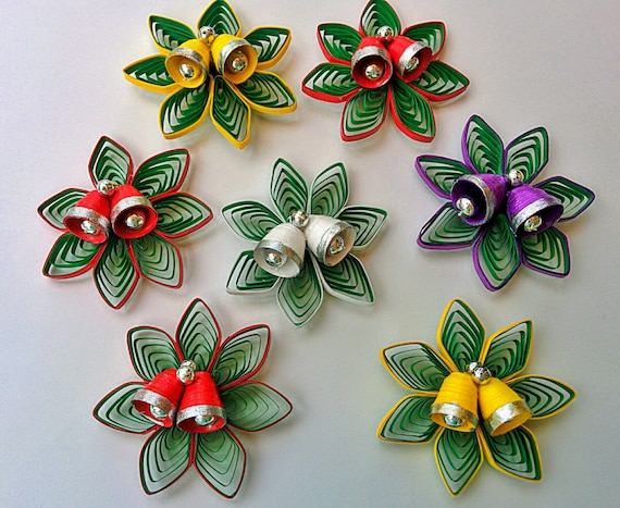 Paper Quilling Christmas Ornaments Set Of Two