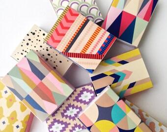 Set of 9 - decorative matchboxes