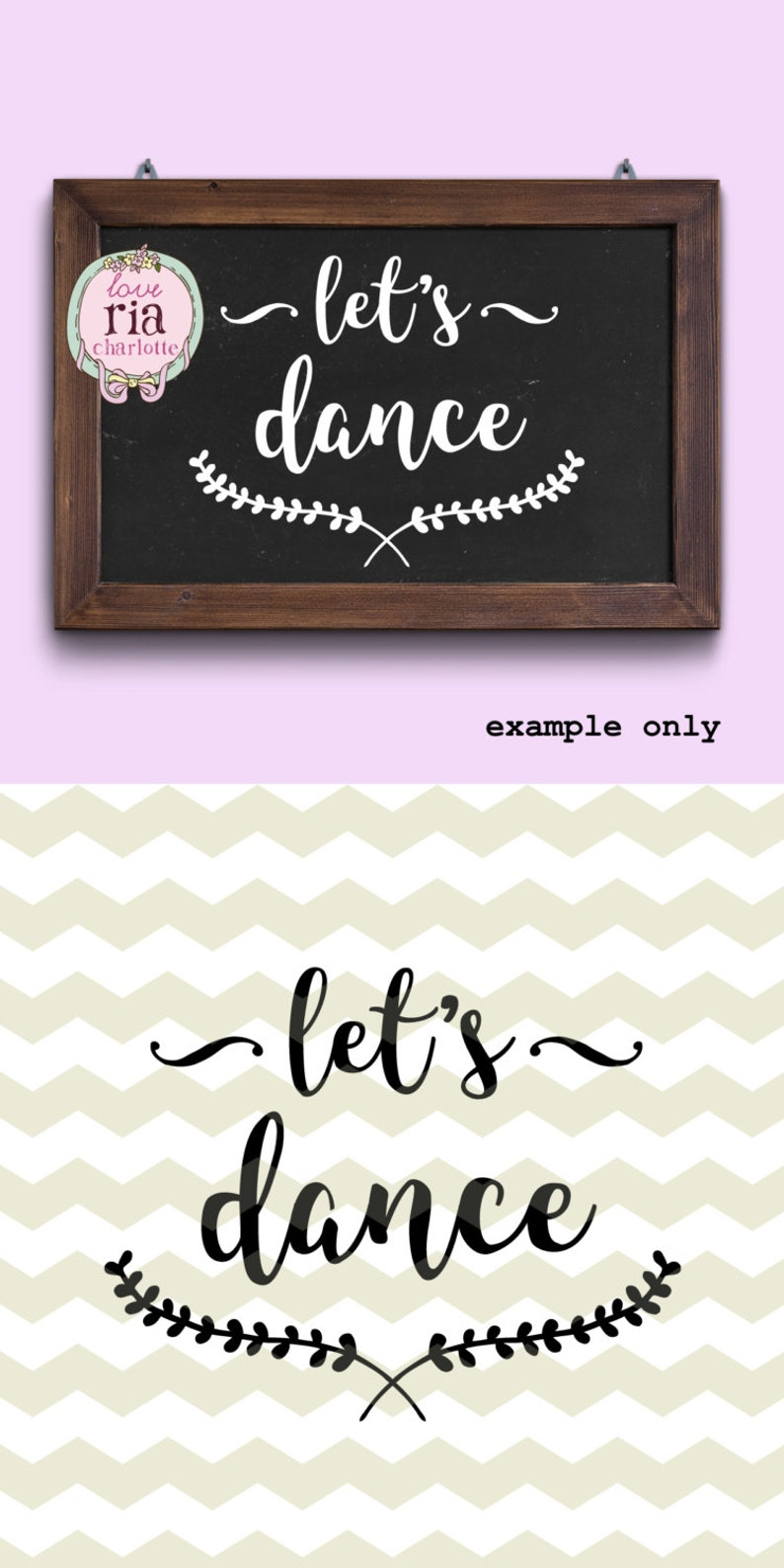 Wedding dance party dancing floor sign lets dance digital etsy