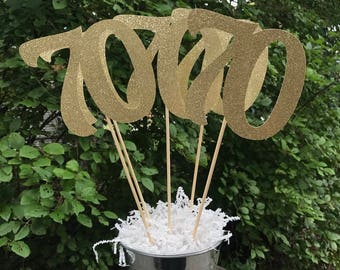 70th Birthday Centerpiece Sticks Glitter Decoration Table Decorations Age Cutouts