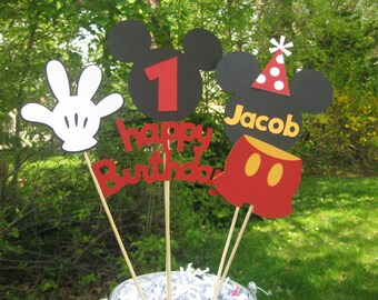 Mickey Mouse Birthday Table Centerpiece, Mickey Mouse Birthday Decorations