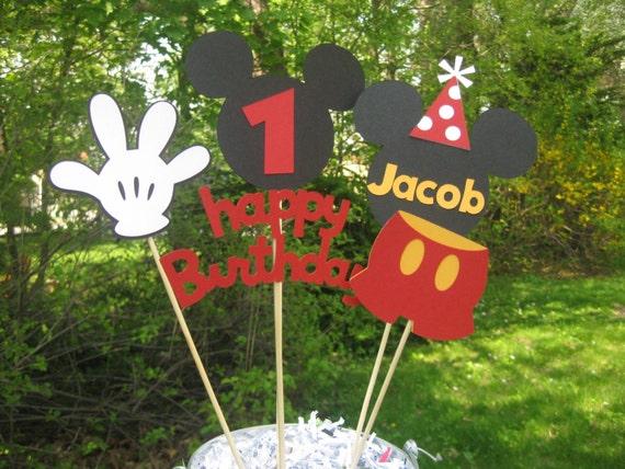 Tavolo Compleanno Topolino : Centro tavola di compleanno topolino decorazioni di etsy