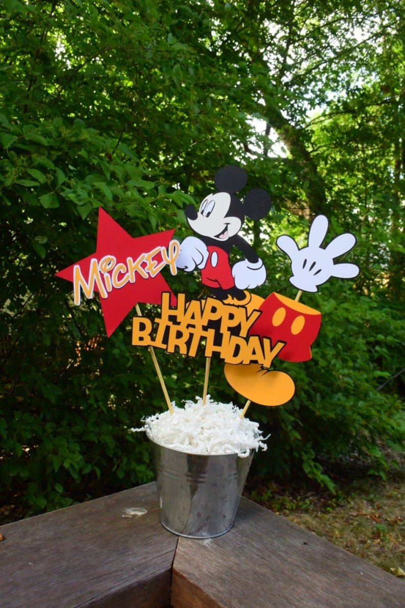 Mickey Mouse Birthday Table Centerpiece