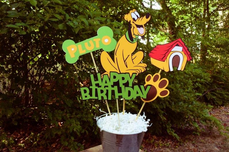 Tavolo Compleanno Topolino : Plutone compleanno tavolo centrotavola decorazioni di etsy