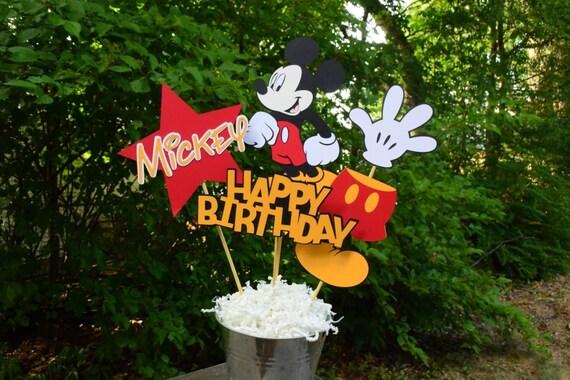 Tavolo Compleanno Topolino : Centro tavola compleanno topolino decorazione per feste etsy