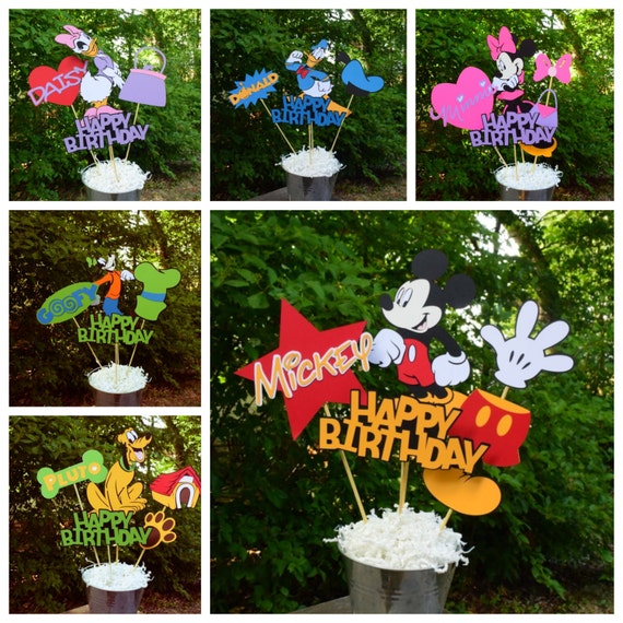 Mickey Mouse Clubhouse Set Of 6 Birthday Table Centerpieces