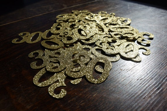 50 Count 30th Birthday Confetti Gold Black Or Silver Glitter