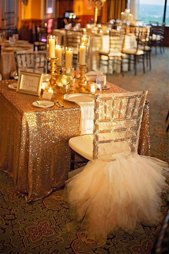 Gold Sequin Tablecloth Glitz Gold
