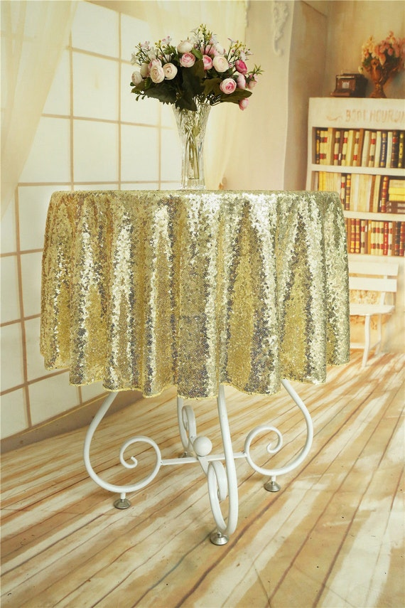 4850031dbdf43 Light Gold Sequin Tablecloth Light Sparkly Gold Sequin