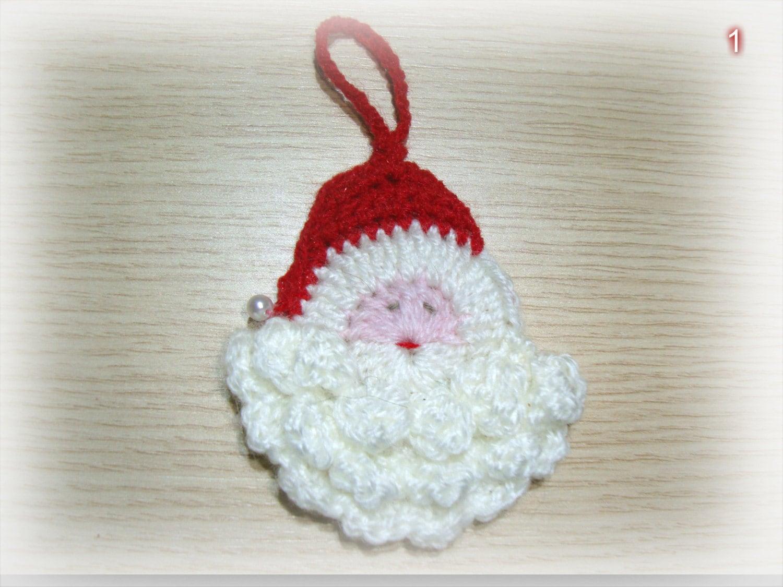 Set 5 crochet navidad ornamento Vintage Crochet crochet | Etsy