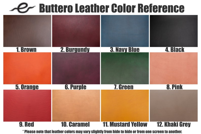 Orange Round Buttero Leather Mouse Pad 12 COLORS