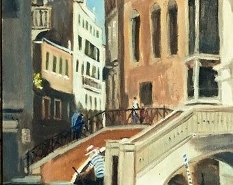 Santa Maria Formosa, Venice - An original plein air oil painting, Unframed. Lovely Gift!