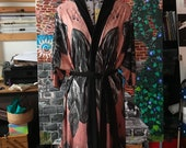 Floating Black Rocks Kimono Style Robe