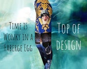 Time is Wonky in a Faberge Egg Leggings top of the design