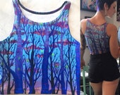 Purple Treetops Crop Top...