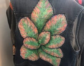 Big Leaves hand painted v...